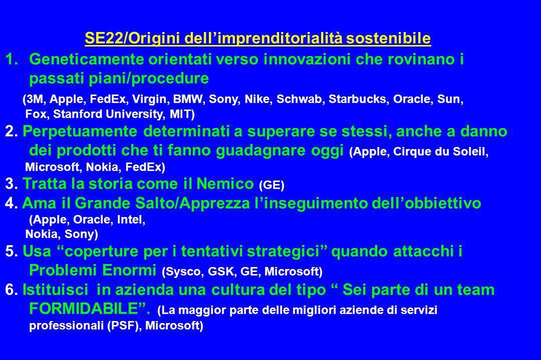 SE22/Origini dell'imprenditorialità sostenibile