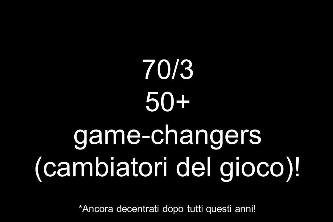 DePuySpine/J&J. 70/3 50+ game-changers (cambiatori del gioco)