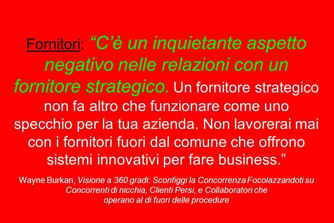 Fornitori: C'è un inquietante aspetto negativo nelle relazioni con un fornitore strategico.