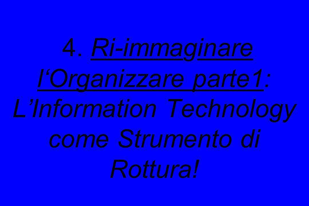 4. Ri-immaginare l'Organizzare parte1: L'Information Technology come Strumento di Rottura!