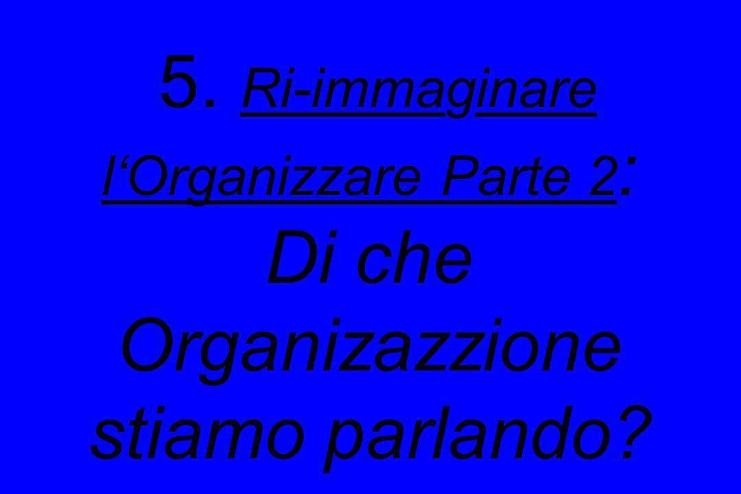 5. Ri-immaginare l'Organizzare Parte 2: Di che Organizazzione stiamo parlando