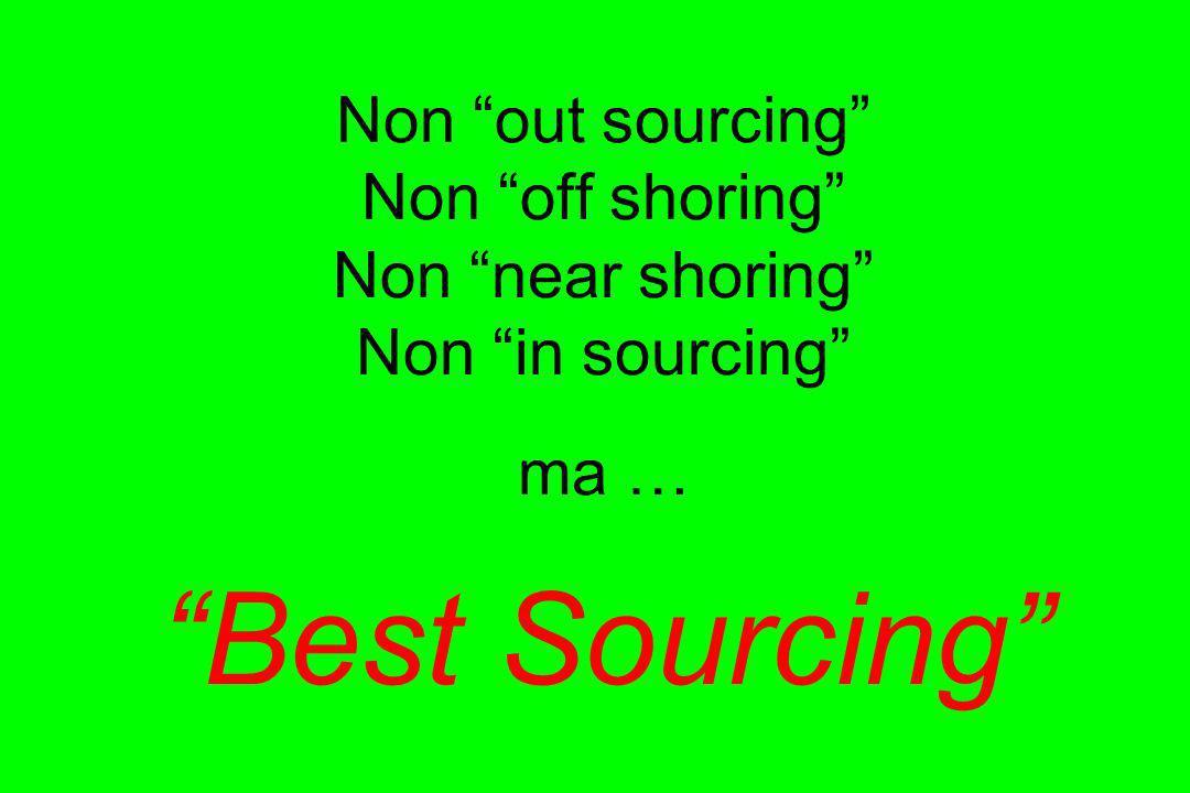 Non out sourcing Non off shoring Non near shoring Non in sourcing ma … Best Sourcing