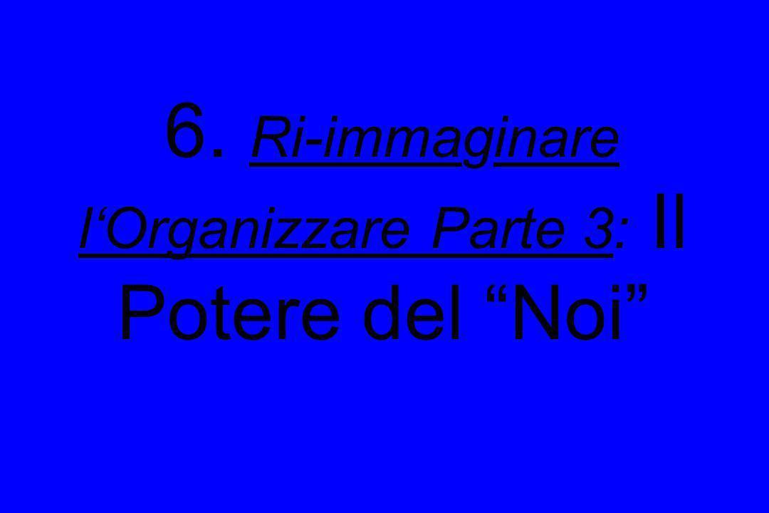 6. Ri-immaginare l'Organizzare Parte 3: Il Potere del Noi