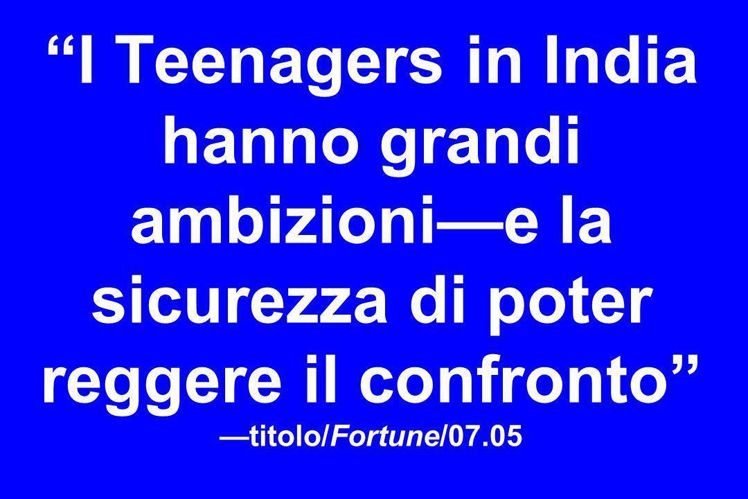 I Teenagers in India hanno grandi ambizioni—e la sicurezza di poter reggere il confronto —titolo/Fortune/07.05
