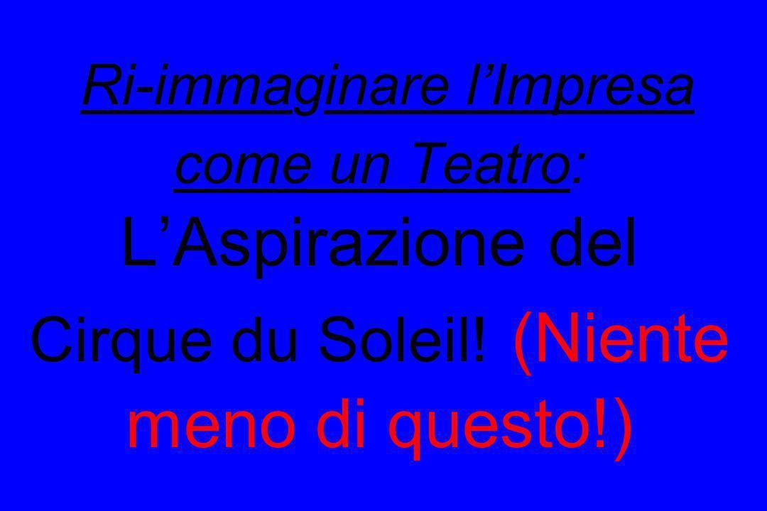 Ri-immaginare l'Impresa come un Teatro: L'Aspirazione del Cirque du Soleil! (Niente meno di questo!)