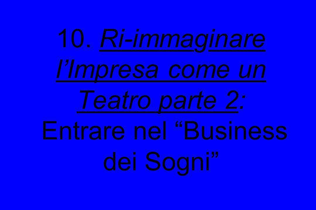 10. Ri-immaginare l'Impresa come un Teatro parte 2: Entrare nel Business dei Sogni