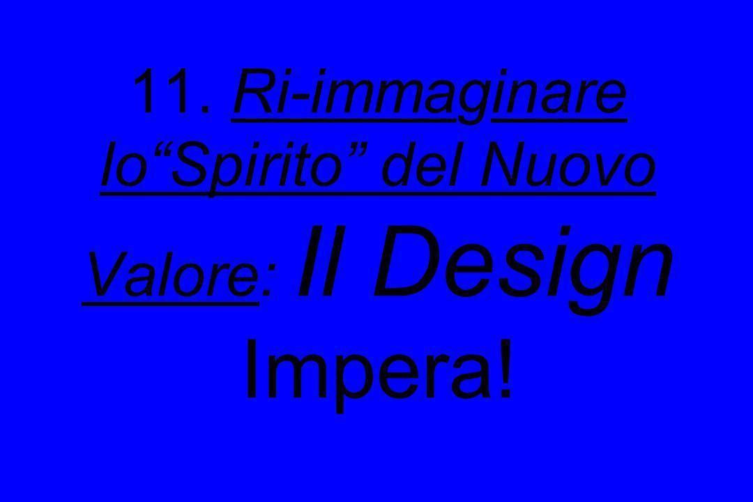 11. Ri-immaginare lo Spirito del Nuovo Valore: Il Design Impera!