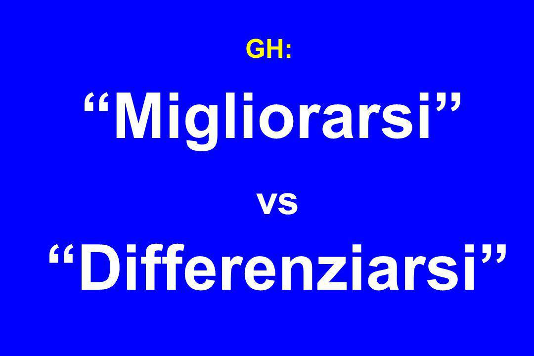 GH: Migliorarsi vs Differenziarsi