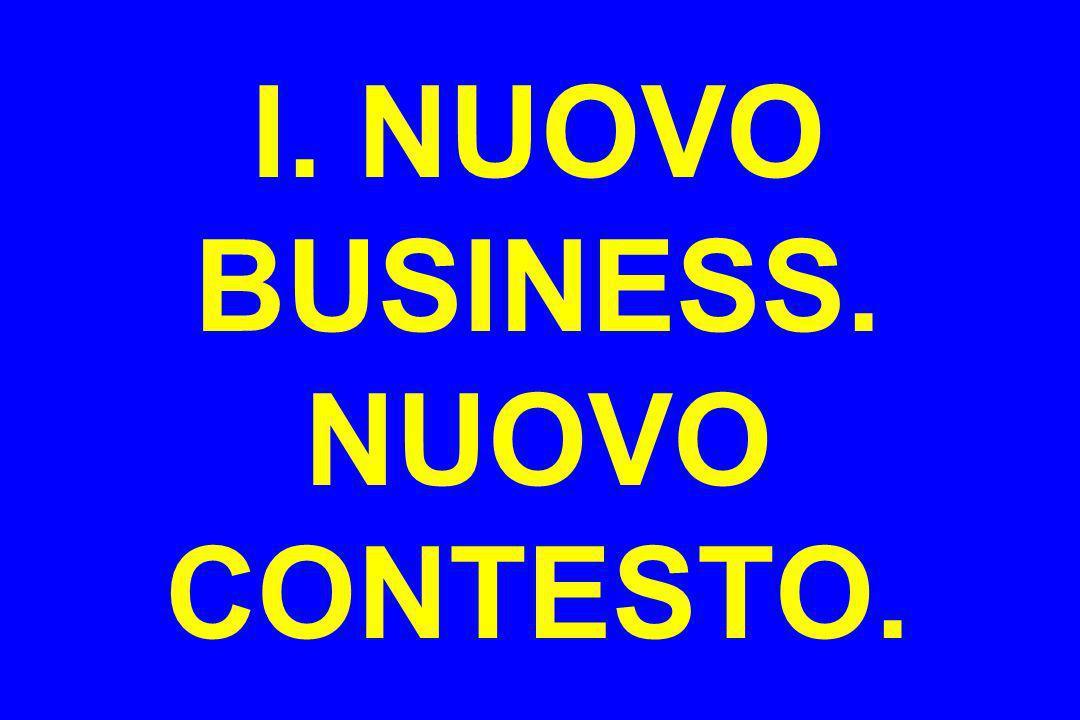 I. NUOVO BUSINESS. NUOVO CONTESTO.