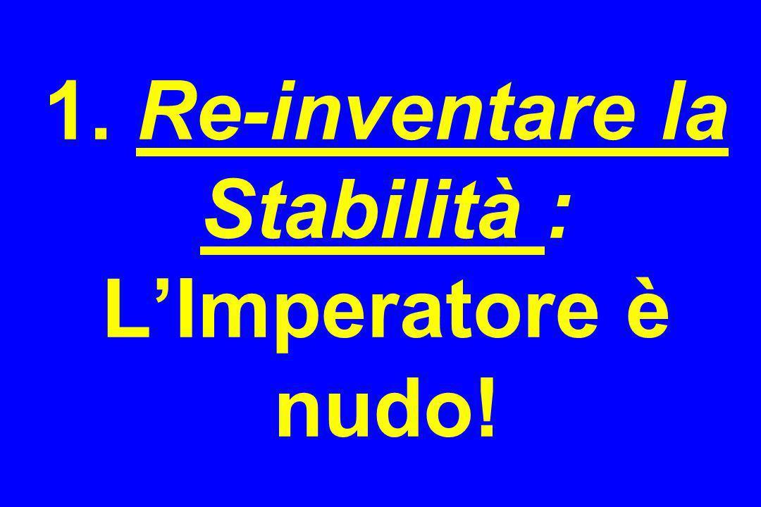 1. Re-inventare la Stabilità : L'Imperatore è nudo!