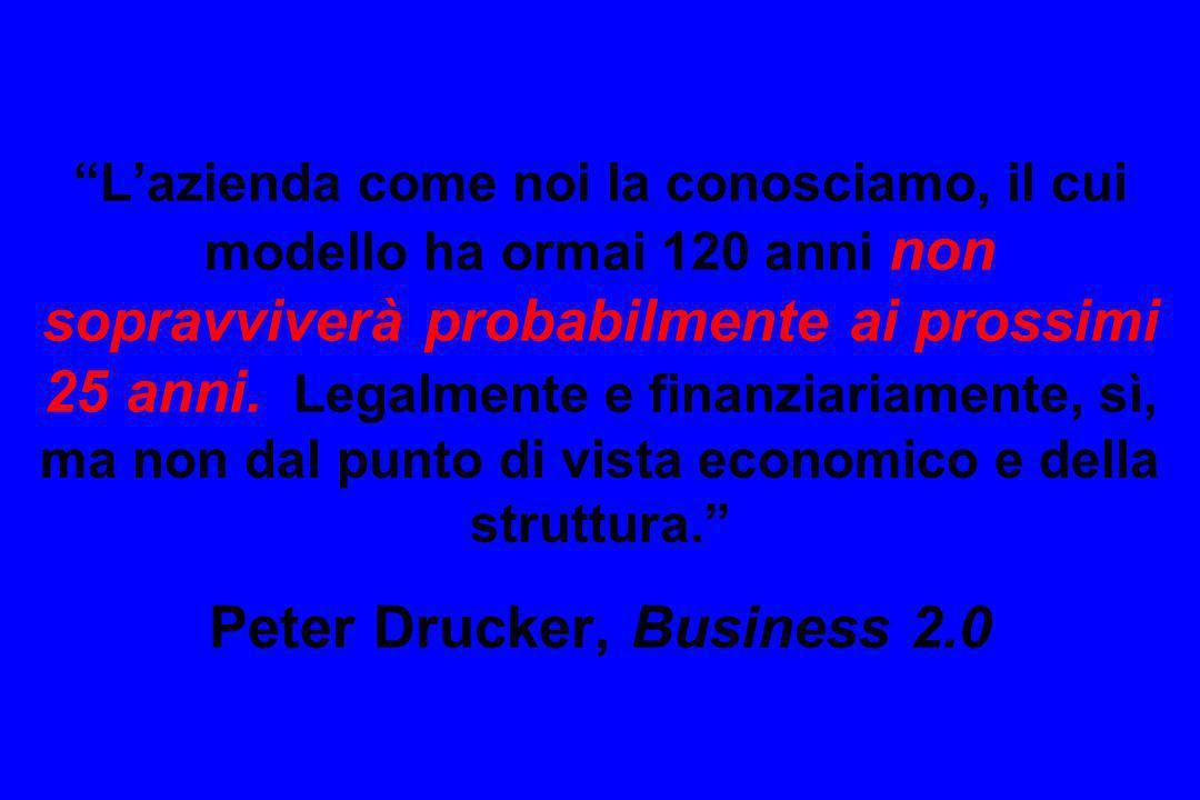 L'azienda come noi la conosciamo, il cui modello ha ormai 120 anni non sopravviverà probabilmente ai prossimi 25 anni.