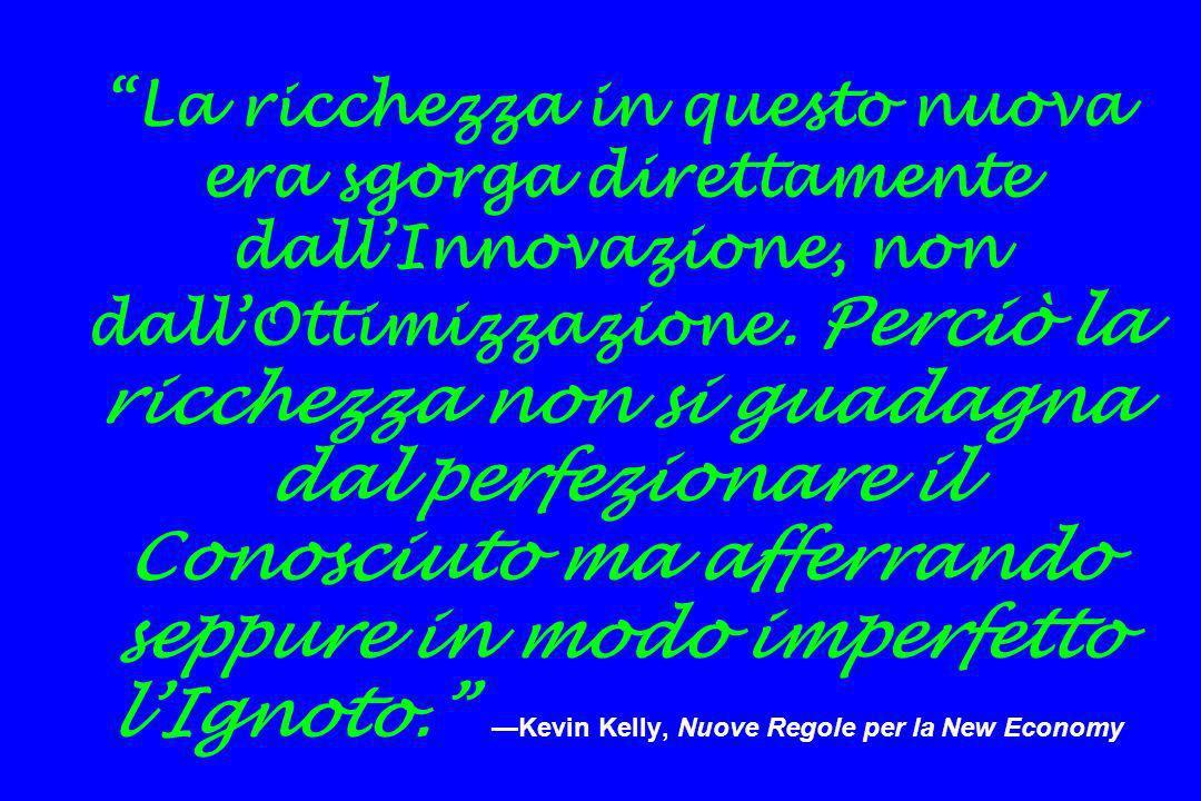 La ricchezza in questo nuova era sgorga direttamente dall'Innovazione, non dall'Ottimizzazione.