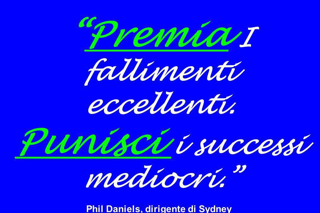 Premia I fallimenti eccellenti. Punisci i successi mediocri