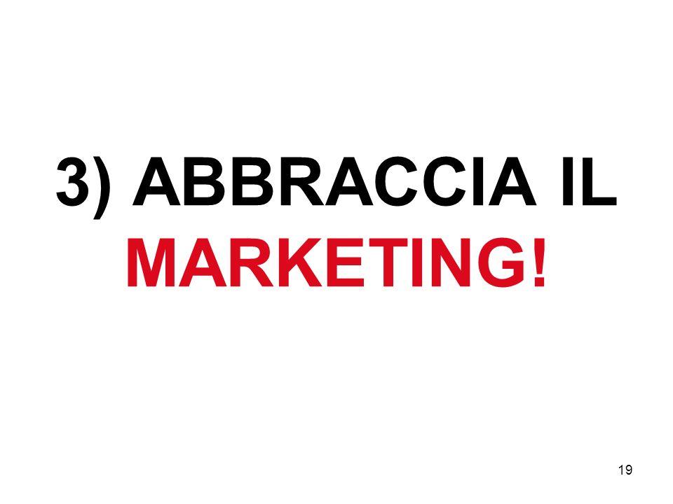 3) ABBRACCIA IL MARKETING!