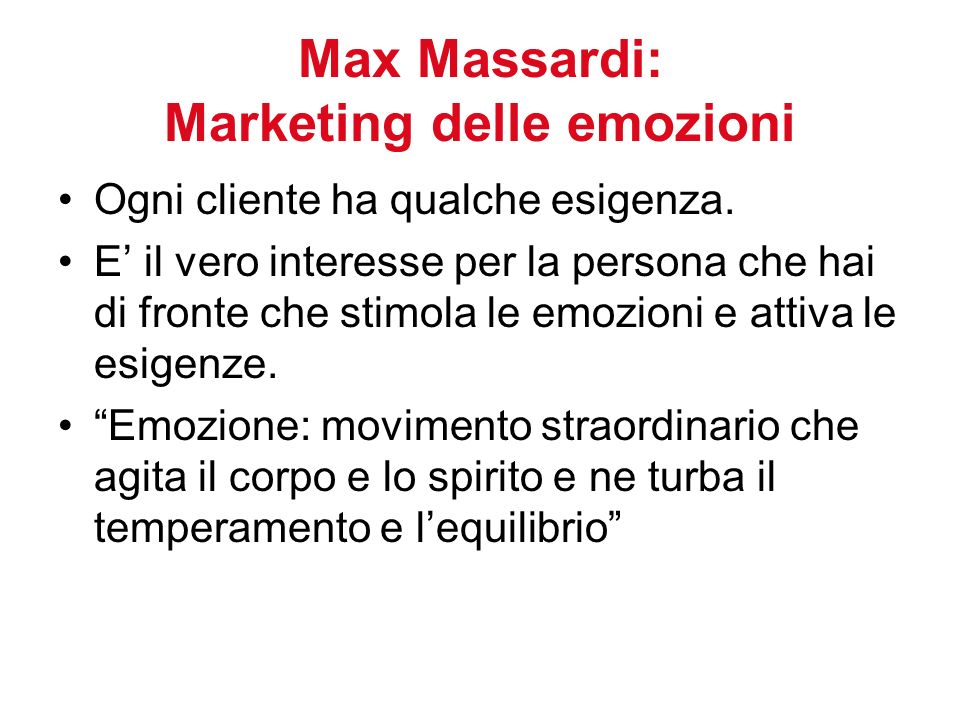 Max Massardi: Marketing delle emozioni
