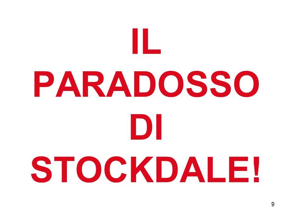 IL PARADOSSO DI STOCKDALE!