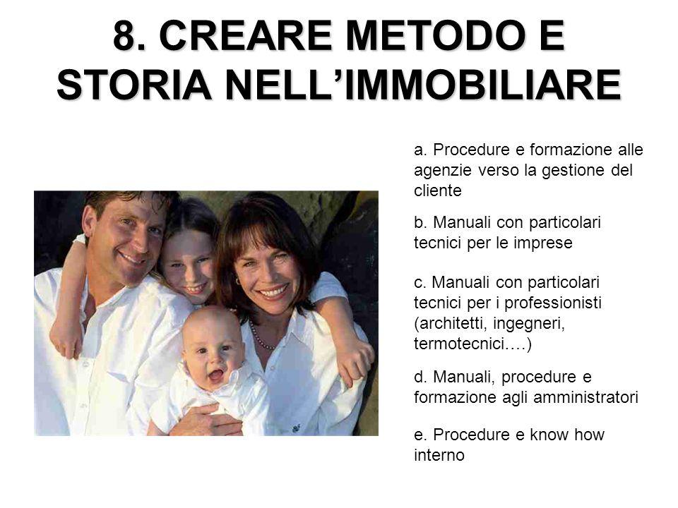 8. CREARE METODO E STORIA NELL'IMMOBILIARE