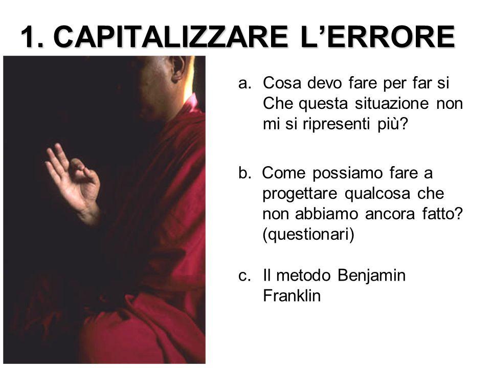 1. CAPITALIZZARE L'ERRORE