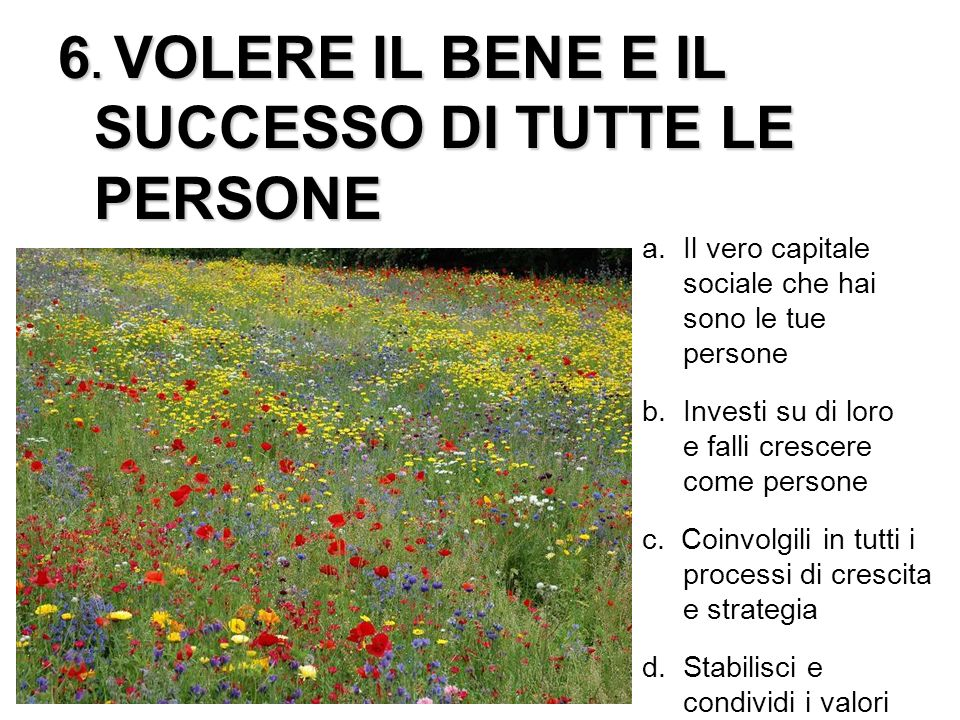6. VOLERE IL BENE E IL SUCCESSO DI TUTTE LE PERSONE