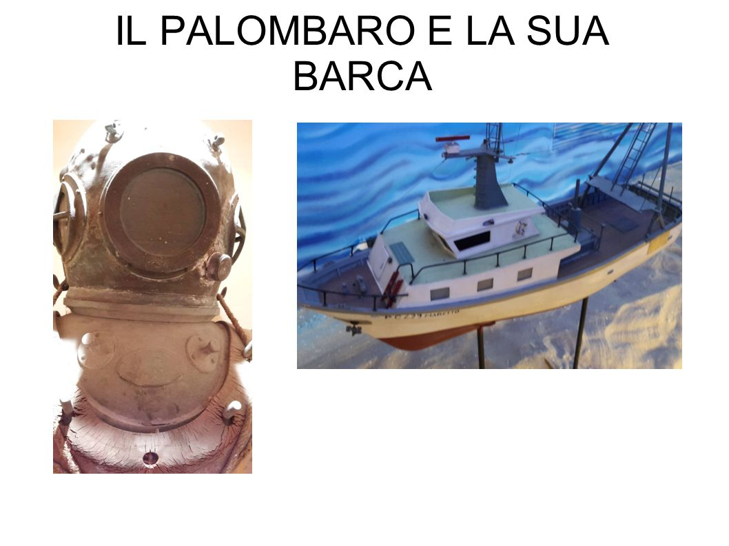 IL PALOMBARO E LA SUA BARCA
