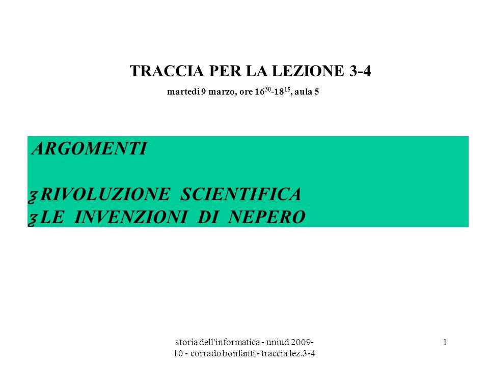 ƺ RIVOLUZIONE SCIENTIFICA ƺ LE INVENZIONI DI NEPERO