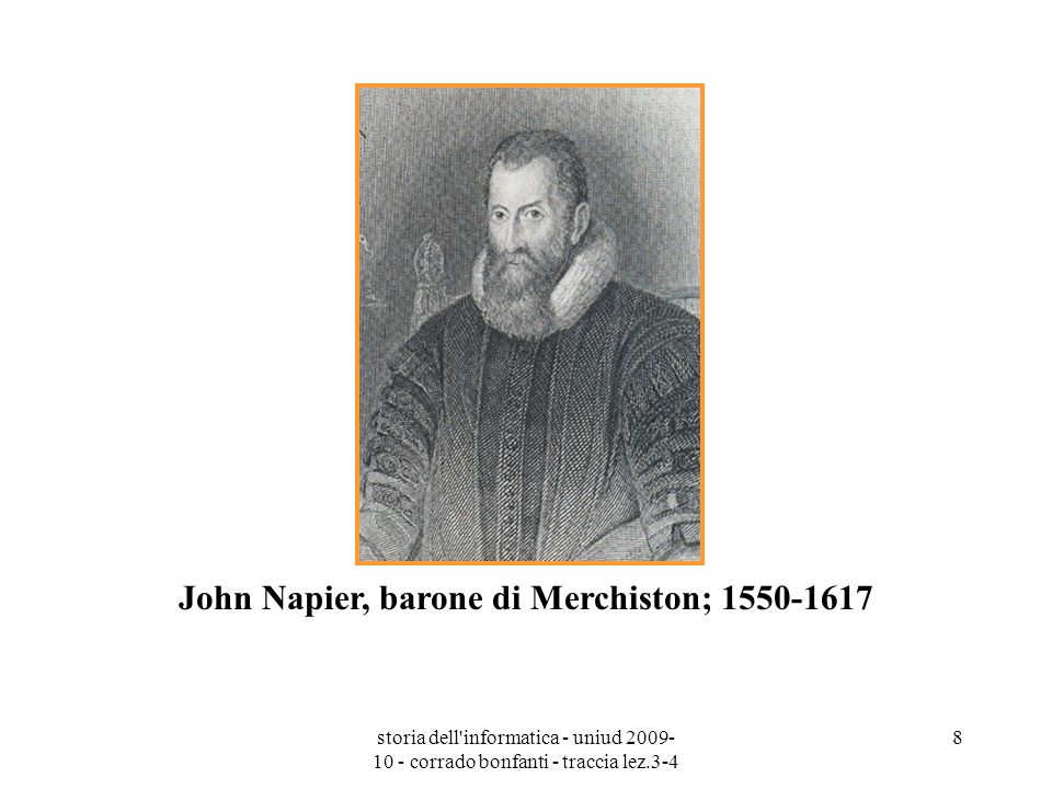 John Napier, barone di Merchiston; 1550-1617