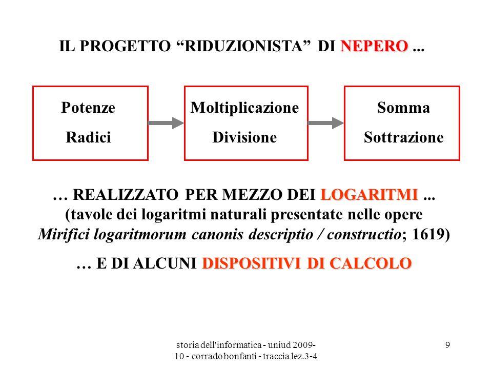 IL PROGETTO RIDUZIONISTA DI NEPERO ...