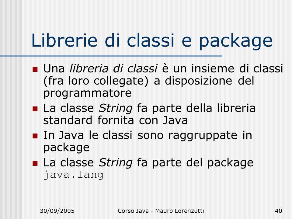 Librerie di classi e package