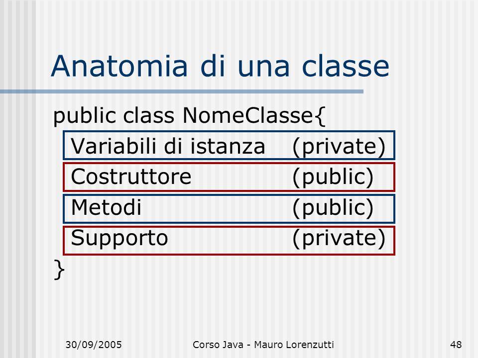 Corso Java - Mauro Lorenzutti