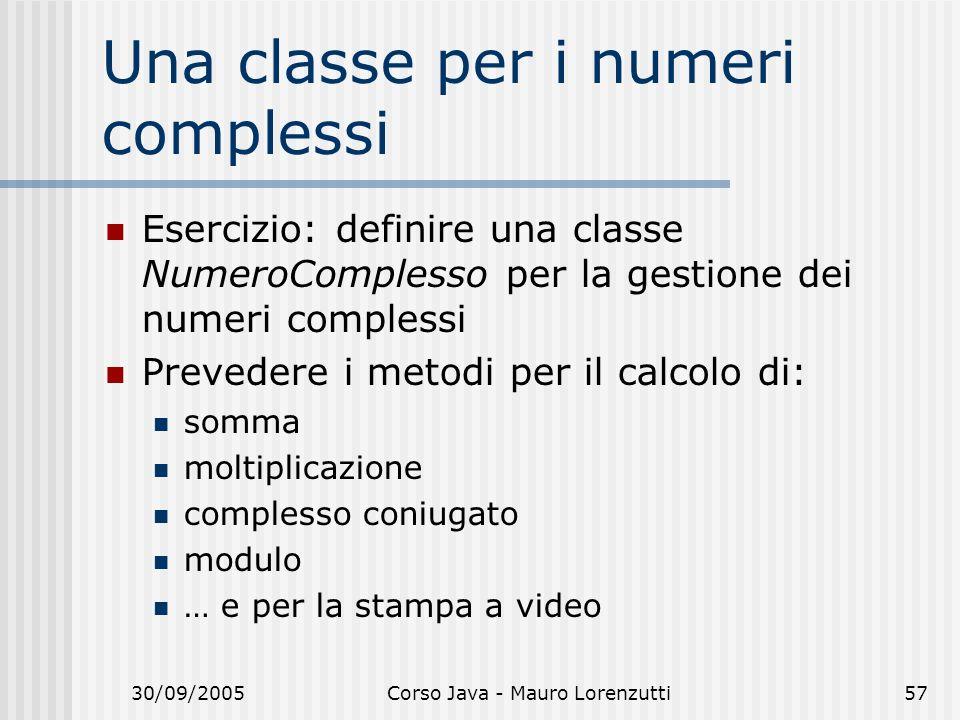 Una classe per i numeri complessi