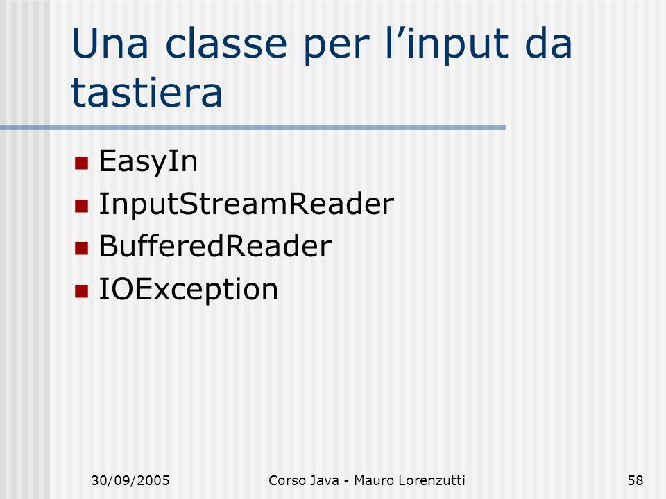 Una classe per l'input da tastiera