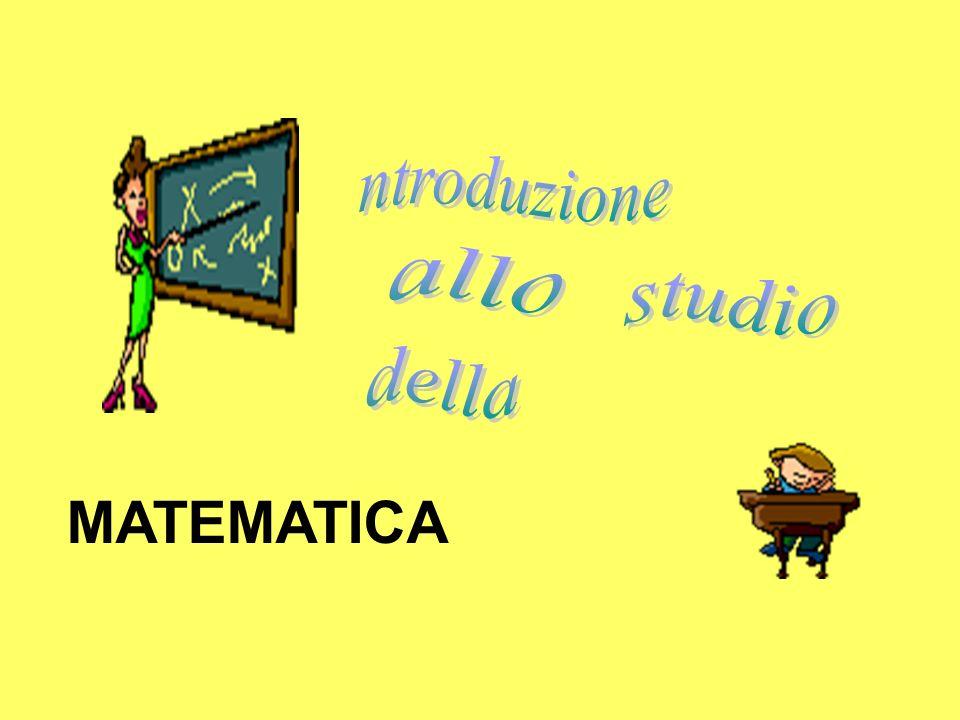 ntroduzione allo studio della MATEMATICA