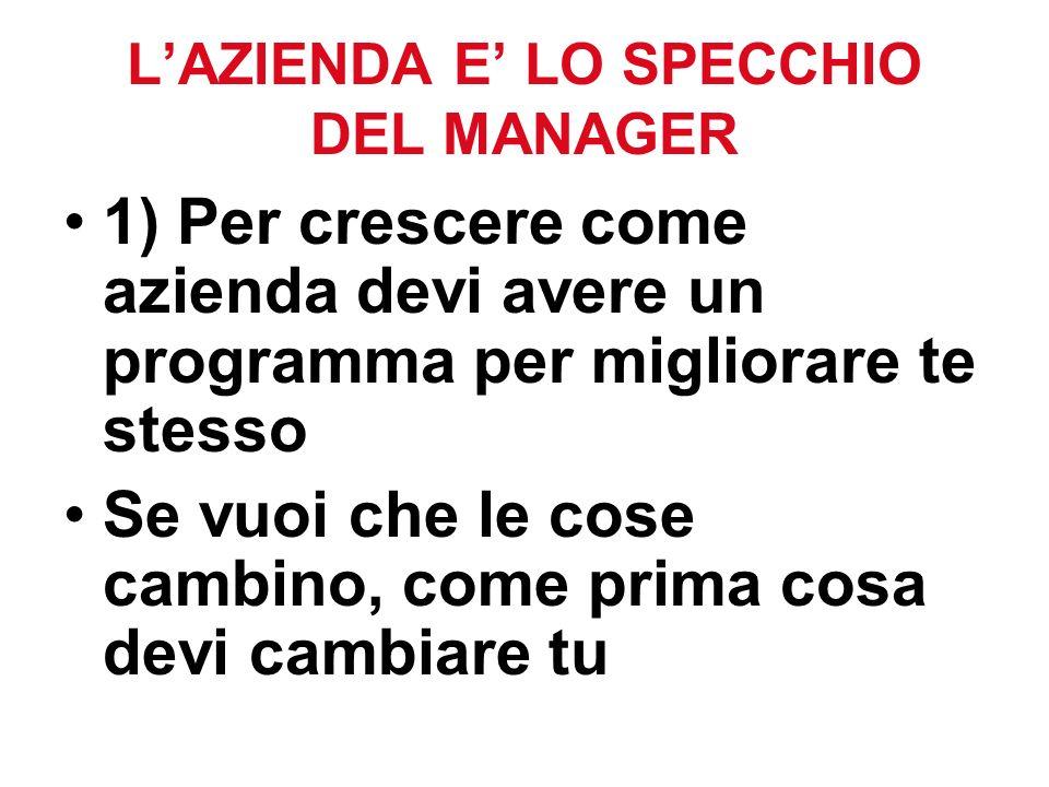 L'AZIENDA E' LO SPECCHIO DEL MANAGER