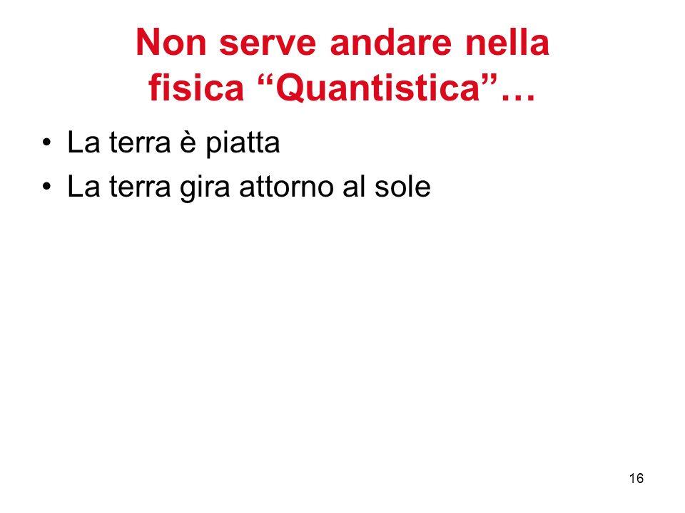 Non serve andare nella fisica Quantistica …