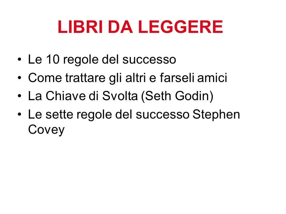 LIBRI DA LEGGERE Le 10 regole del successo
