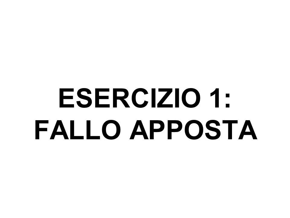 ESERCIZIO 1: FALLO APPOSTA