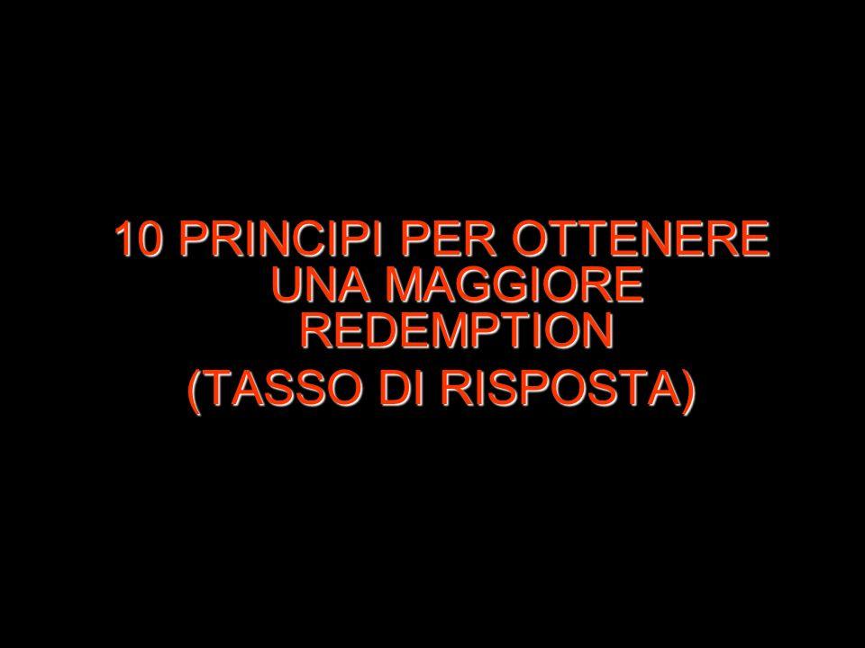 10 PRINCIPI PER OTTENERE UNA MAGGIORE REDEMPTION