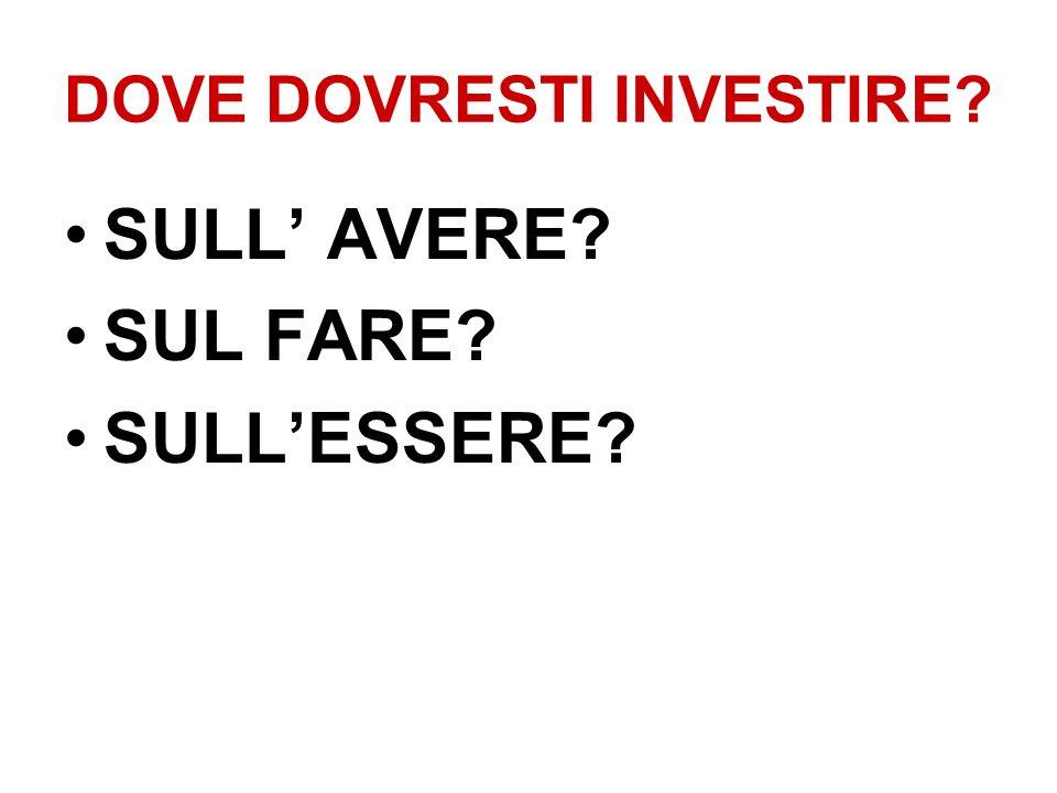DOVE DOVRESTI INVESTIRE