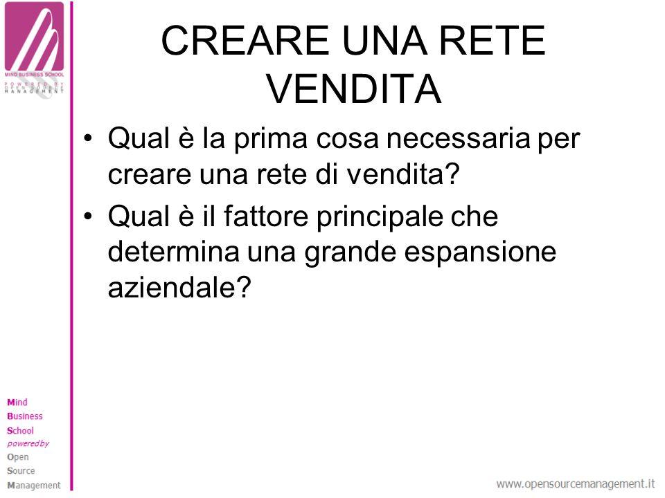 CREARE UNA RETE VENDITA