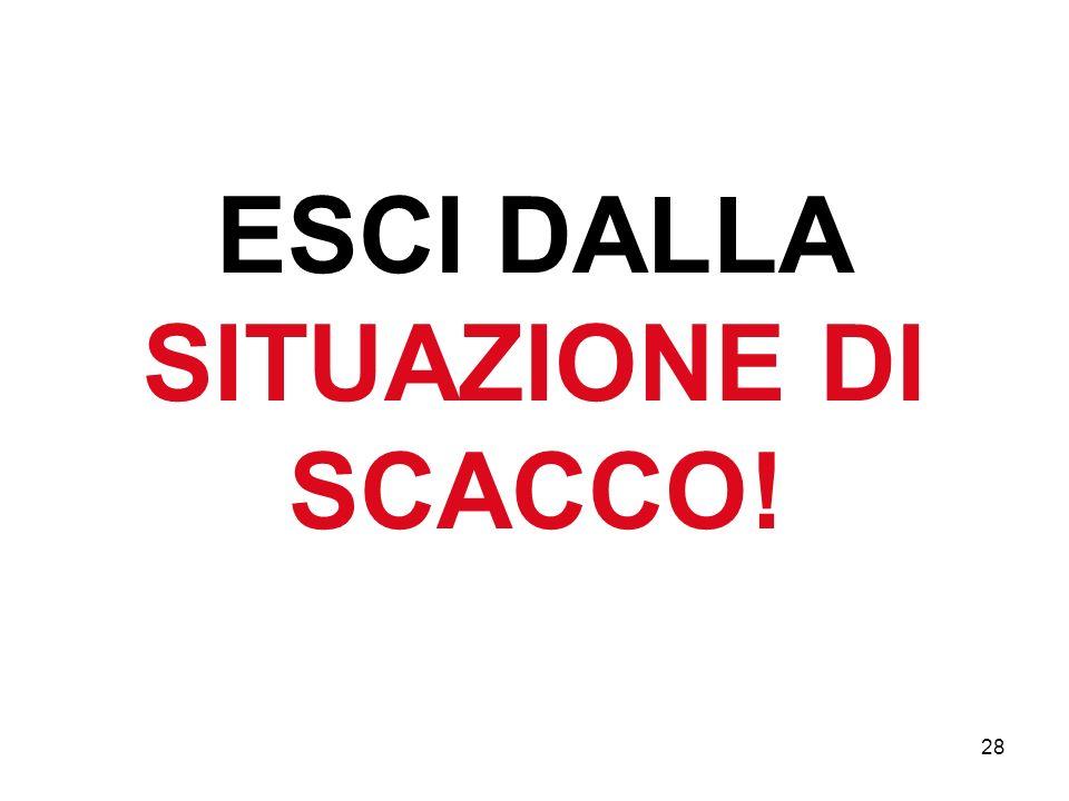 ESCI DALLA SITUAZIONE DI SCACCO!