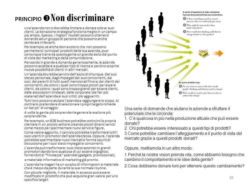 PRINCIPIO Non discriminare