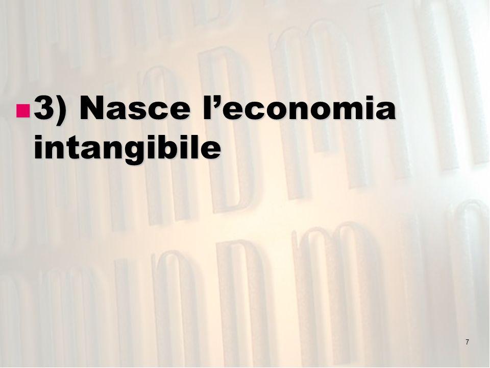 3) Nasce l'economia intangibile