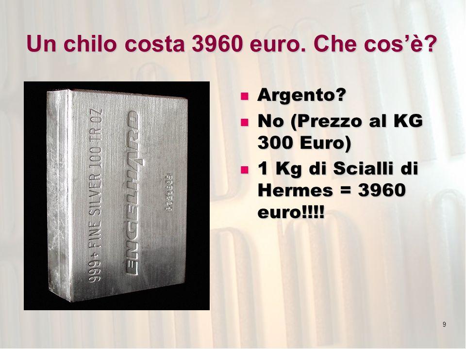 Un chilo costa 3960 euro. Che cos'è