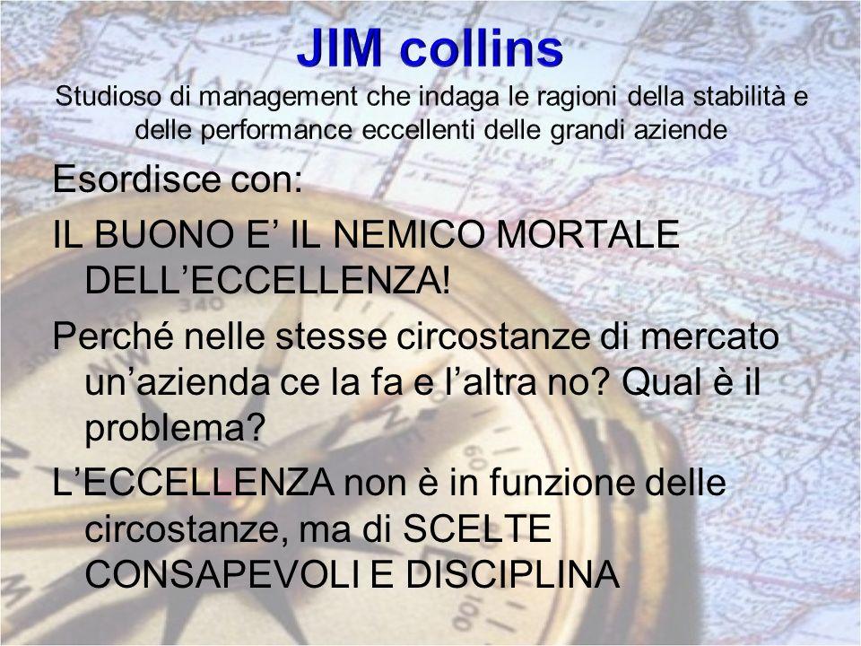 JIM collins Studioso di management che indaga le ragioni della stabilità e delle performance eccellenti delle grandi aziende