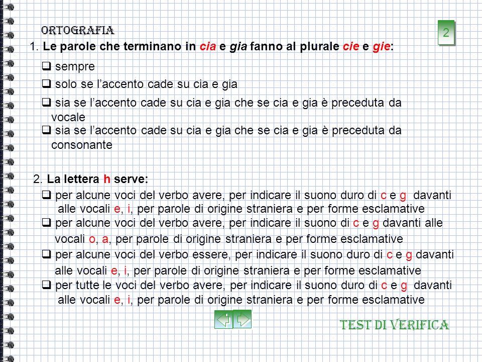 Test di verifica ortografia 2