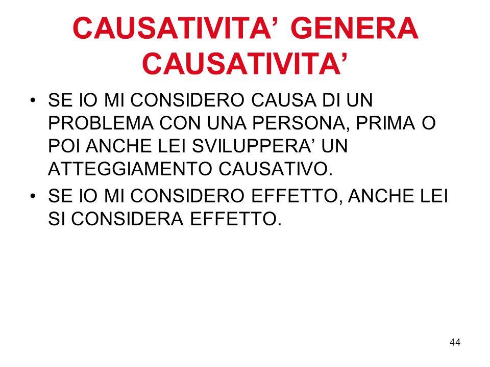 CAUSATIVITA' GENERA CAUSATIVITA'