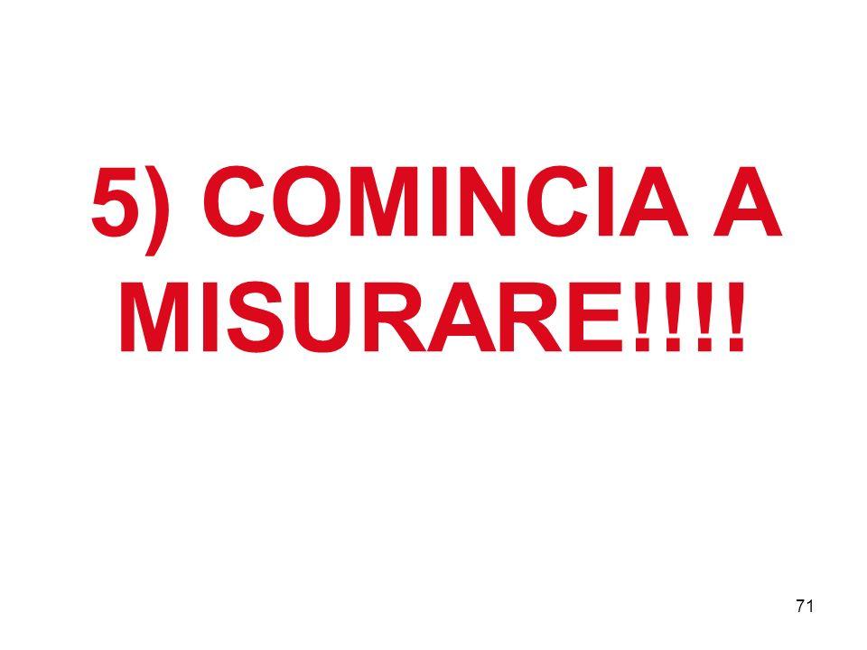 5) COMINCIA A MISURARE!!!!