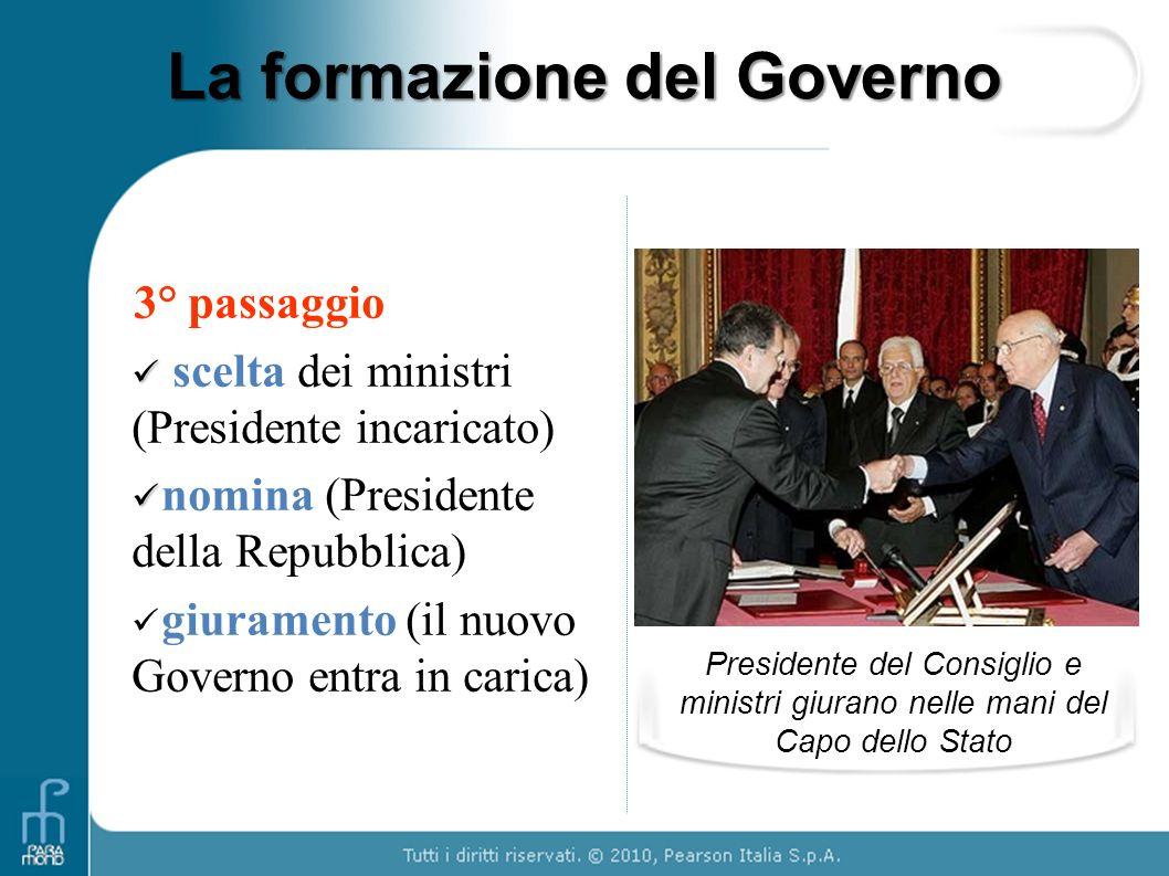 La formazione del Governo