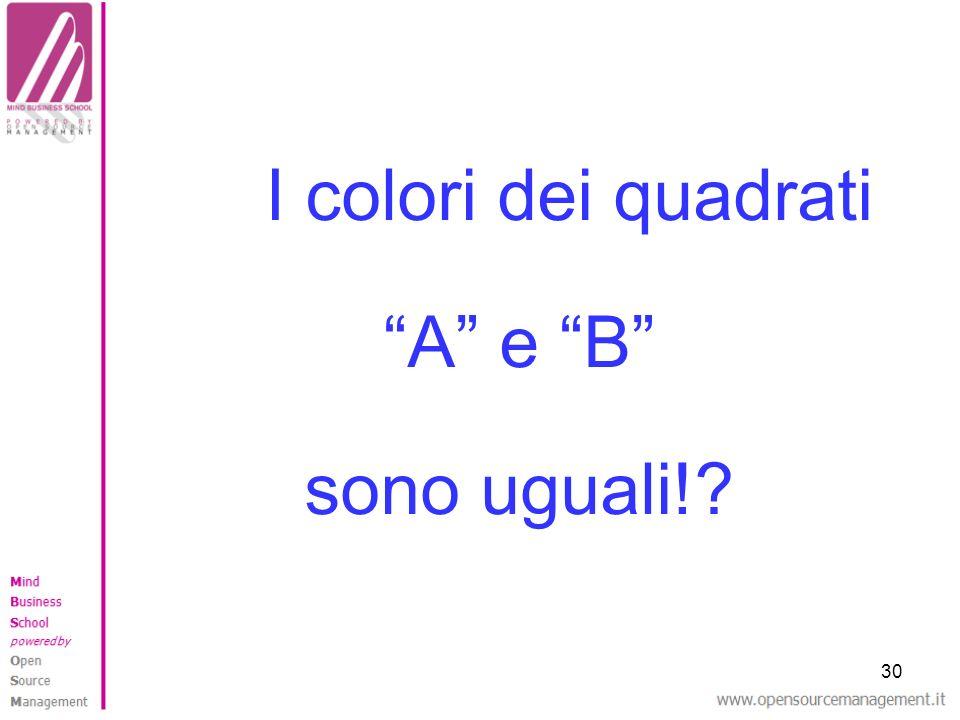 I colori dei quadrati A e B sono uguali! 30