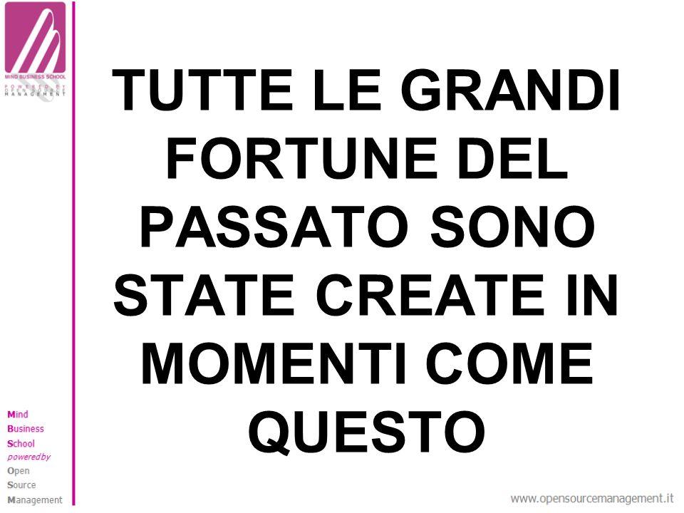 TUTTE LE GRANDI FORTUNE DEL PASSATO SONO STATE CREATE IN MOMENTI COME QUESTO